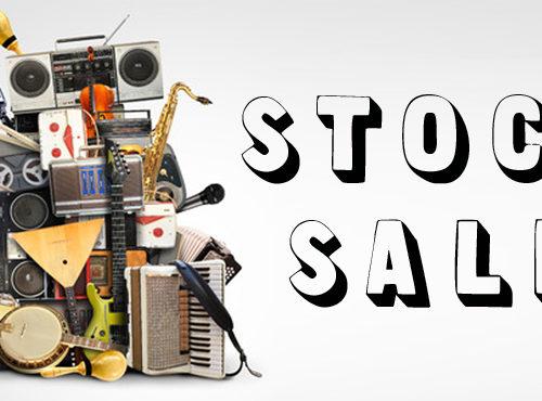 stock sale muziekinstrumenten