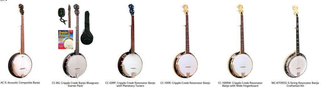 gold tone banjo 5 string resonator