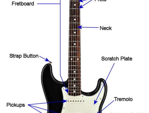 onderdelen elektrische gitaar