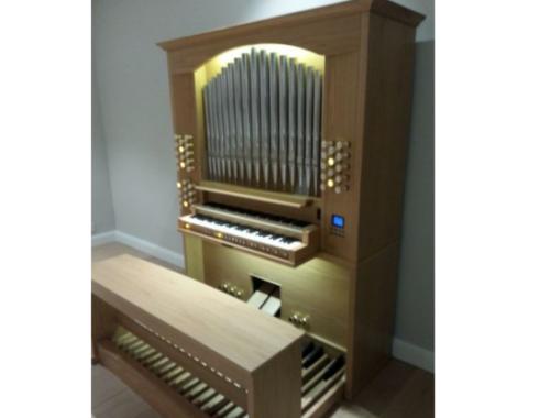 Viscount Unico P35 te Oudenaarde plaatsing orgel
