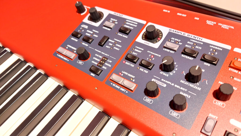 Clavia Nord Piano 5 samplesectie